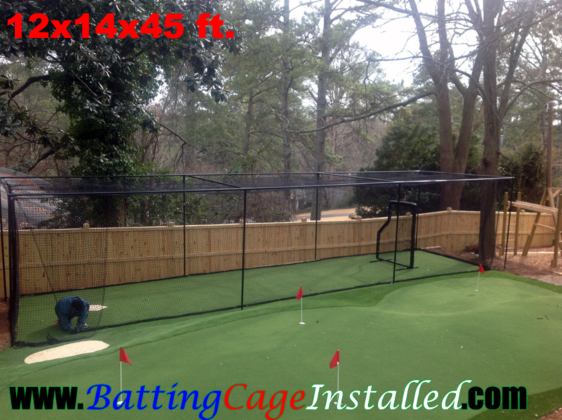 Batting Cage Installed Backyard Batting Cages Backyard Batting - Backyard batting cages for sale