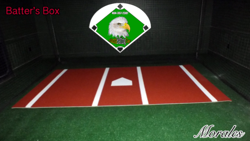 Baseball Hitting Mat Batters Box 6 X 12 Ft Turf With Foam